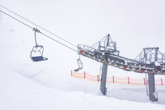 Chair lift for skiing Stock Image