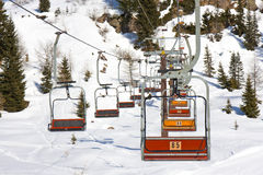 Chair Lift Snow Winter Mountain Royalty Free Stock Photography