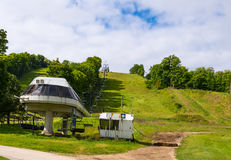 Chair Lift in summer Stock Photos