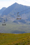 Chair lift in summer Landscape Royalty Free Stock Images