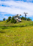 Chair Lift in summer Stock Image