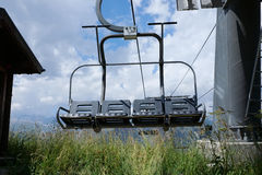 Chair lift in the summer time Royalty Free Stock Images
