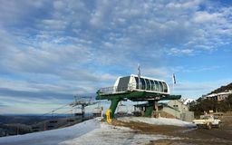 Chair lift terminal Royalty Free Stock Image