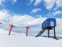 Chair lift up the volcan Villarica Stock Image