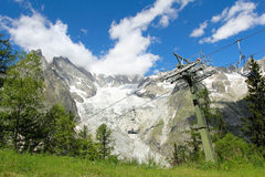 Chair lift in Veny valley Stock Photo