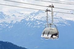Chair lift at Whistler Peak British Columbia Stock Photography