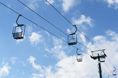 Chair Lift winter Stock Photo