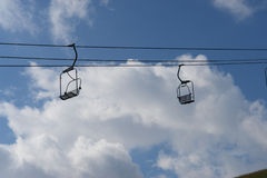 Chair Lift winter Royalty Free Stock Photography
