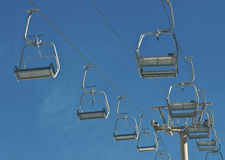 Chair Lifts. On a Ski Resort stock photography