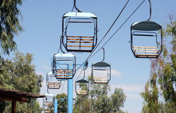 Chair Lifts in the Desert. Empty chair Lifts in the desert heat of Arizona Royalty Free Stock Image