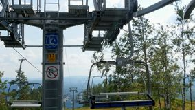 Chair lifts and equipment stock video footage
