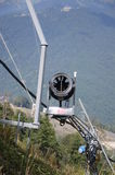 Chair lifts in the summer. In the Sochi Royalty Free Stock Image