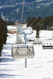 Chair lifts at Whistler Peak British Columbia Royalty Free Stock Image