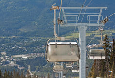 Chair lifts at Whistler Peak British Columbia Stock Photography