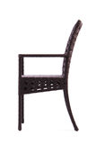Chair made of artificial rattan Royalty Free Stock Images