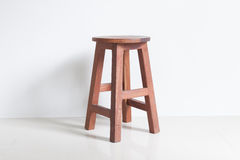 Chair made of wood Stock Photo