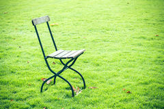 Chair on a meadow Stock Image