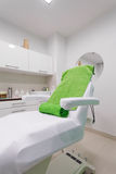 Chair in modern healthy beauty spa salon. Interior of treatment room. Luxury relax therapy stock image