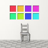 Chair in modern room Royalty Free Stock Images