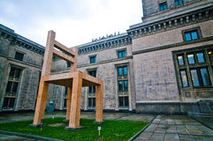 Chair monument, Warsaw, Poland Royalty Free Stock Photos