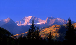Chair Mountain. Evening sun setting on Chair Mountain in fall, Colorado Stock Photo