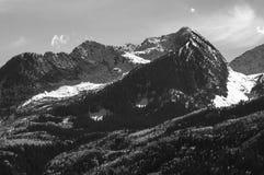 Chair Mountain Elk Mountain Range Gunnison County. Chair Mountain in the Elk Mountain Range Black and White Stock Photo