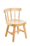 Chair natural wood for children Stock Photos