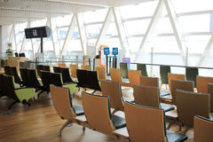 chair in New Chitose airport Chitose Hokkaido Japan Stock Photos