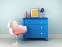 Chair and nightstand Stock Images