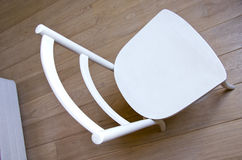 Chair object retro paint white stand wooden floor Royalty Free Stock Photography