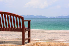The chair by the ocean. Royalty Free Stock Photography