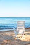 Chair On Sand Beach. Stock Photo