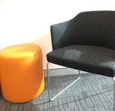Chair. Orange and black chairs Royalty Free Stock Image