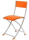 chair orangen Arkivbild