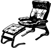 Chair with ottoman Cartoon Vector Clipart Stock Photography