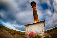Chair outside patagonia lighthouse in valdes peninsula Stock Images