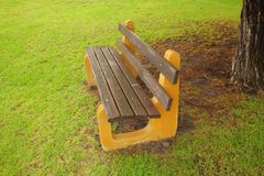 A chair in the park Royalty Free Stock Photos