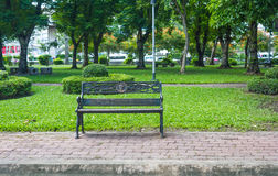 Chair on park Stock Photography
