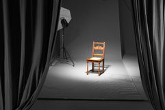 Chair in a photostudio Stock Images