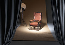 Chair in a photostudio Royalty Free Stock Photography