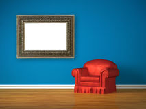 Chair with picture frame Stock Images