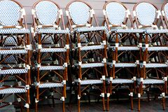 Chair piles Stock Image