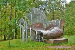 Chair-pool By Oppenheim. Europos Parkas. Vilnius. Lithuania Stock Photos