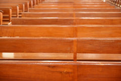 Chair prayer in the church, Interior Inside a Catholic Church Royalty Free Stock Image