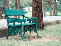 Chair. Public park, art, tree Royalty Free Stock Photos