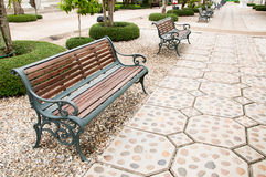 Chair in Public Park. Stock Images
