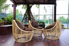 Chair from rattan. Chair is made from rattan Royalty Free Stock Photography