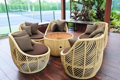 Chair from rattan Stock Images