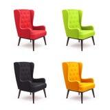 Chair Realistic Icon Set Royalty Free Stock Photos