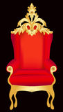Chair red with pattern Stock Photo